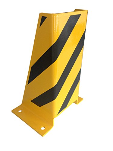 1A-Safety AFS-U Protection anti-collision en acier, LxlxH : 245 mm x 200 mm x 400 mm, forme en U, jaune/noir de 1A-Safety