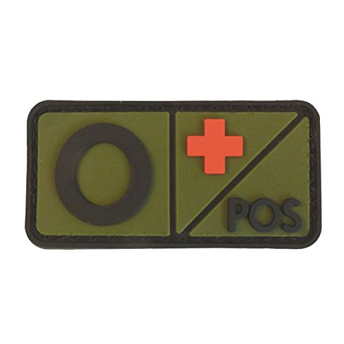 Olive Drab OD Groupe Sanguin Morale Tactical PVC Gomme 3D Touch Fastener Écusson Patch de 2AFTER1