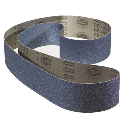 AES A.0552-24 Alflex Bandes abrasives, grain P24, Zirconium, Rb480 24yx, 150 mm de largeur x longueur de 2500 mm (lot de 10) de AES