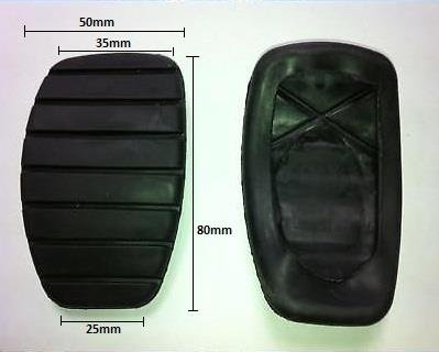 Brake And Clutch Replacment Pedal Covers Pad Rubbers For Renault Cars de AUTOPOWER