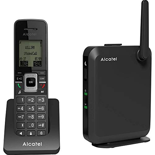 Alcatel IP2215P IP-DECT Basis avec Handset IP15, Noir de Alcatel