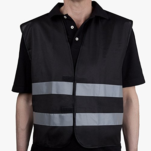 Allflash AL-1222 Colour, Gilet de Signalisation Noir de Allflash