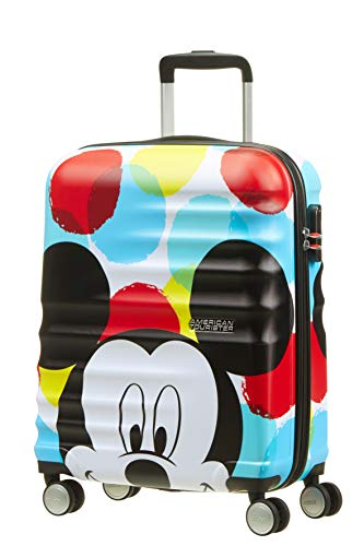 American Tourister - Disney Wavebreaker Spinner 55/20 2.6 KG Bagage enfant, 55 cm, 36 liters, Multicolore (Mickey Close-Up) de American Tourister