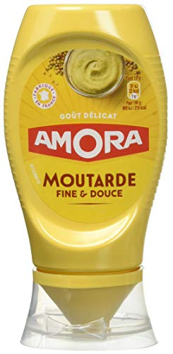 Amora Moutarde Douce Flacon Souple 260 g - Pack de 9 de Amora