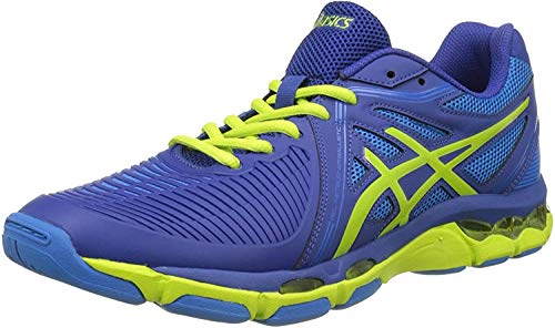 ASICS Gel-Netburner Ballistic, Chaussures de Volleyball Homme, Multicolore (Limoges/Energy Green/directoir), 44 EU de ASICS