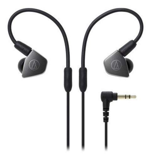 Audio-Technica ATH-LS70iS Écouteurs «Live-Sound», Noir/Gris de Audio-Technica