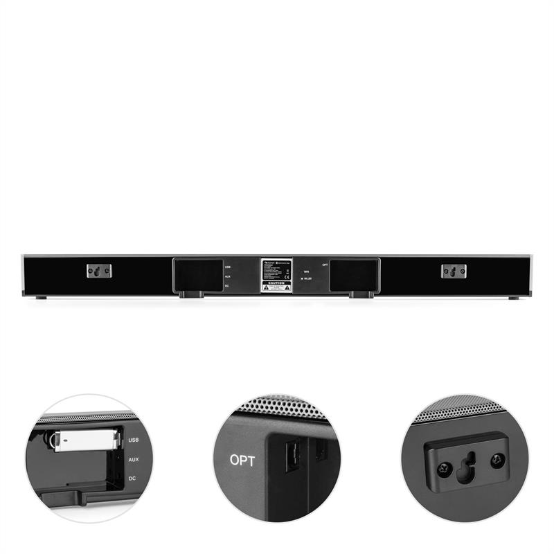 [RECONDITIONNÉ] - auna Areal Bar 950 Barre de son sans fil subwoofer 140W Bluetooth USB MP3 AUX de Auna