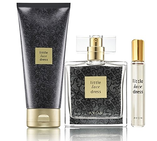 Lot 3 produits Avon LITTLE LACE DRESS - eau de toilette + lait hydratant + mini vaporisateur de sac de Avon