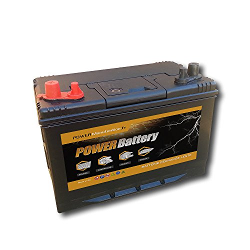 BATTERY Batterie décharge Lente Camping Car Bateau 12v 110ah 330x172x242mm de BATTERY