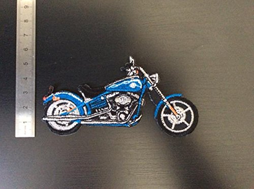 ECUSSON PATCHES AUFNAHER TOPPA - MOTO TYPE HARLEY BLEUE - THERMOCOLLANT de  BLUE HAWAI 8ade61a48c5