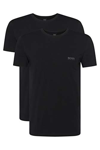 BOSS Hugo Boss Shirt RN 2P CO/EL, T-Shirt Homme, Noir (Black), X-Large de BOSS Hugo Boss