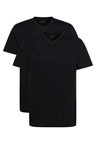 BOSS Hugo Boss Shirt VN 2P CO, T-Shirt Homme, Noir (Black), X-Large de BOSS Hugo Boss