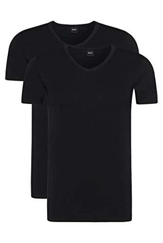 BOSS Hugo Boss Shirt VN 2P CO/EL, T-Shirt Homme, Noir (Black), Large de BOSS Hugo Boss