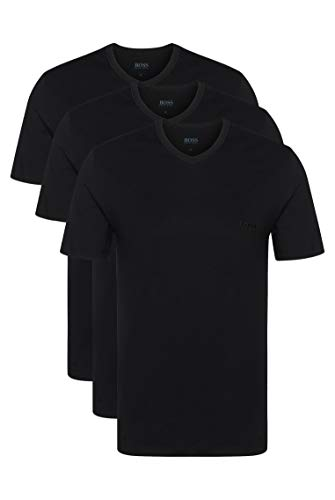 BOSS Hugo Boss Shirt VN 3P CO, T-Shirt Homme, Lot DE 3, Noir (Black), Small de BOSS Hugo Boss