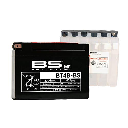 BS battery 300625 bt4b de BS AGM Batterie Moto Noir de BS Battery