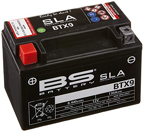 BS battery 300674 btx9 AGM SLA Moto Batterie Noir de BS Battery
