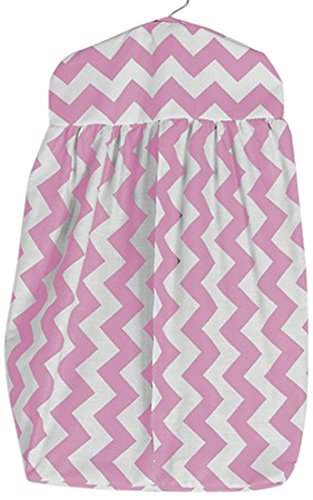 Baby Doll Chevron Dot Diaper Stacker, Rose de Baby Doll Bedding