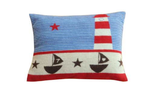 David Fussenegger 87312065 Lena Cushion (Certified to Global Organic Textile Standard) Lighthouse Approx. 40 x 30 cm de BabyCentre