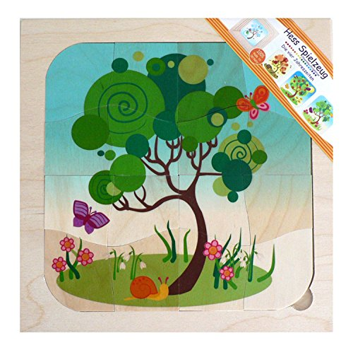 Hess Wooden Toddler Toy 4-Layer Seasons Puzzle de BabyCentre