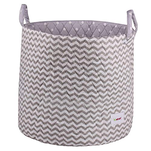Minene Large Storage Chevrons Basket with Stars (Grey/ White) de BabyCentre