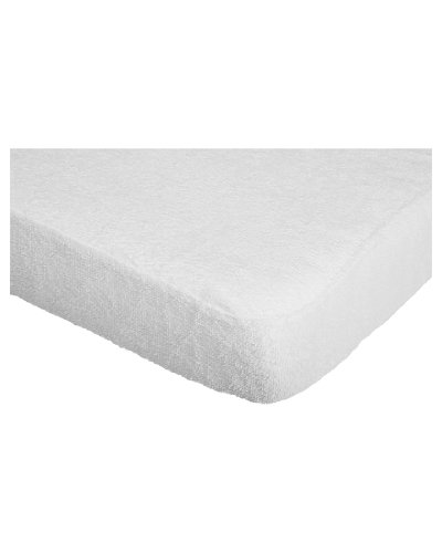 Playshoes 70 x 140cm Terry Fitted Sheet Mattress Protector Waterproof and Breathable Oeko-Tex Standard 100 de BabyCentre