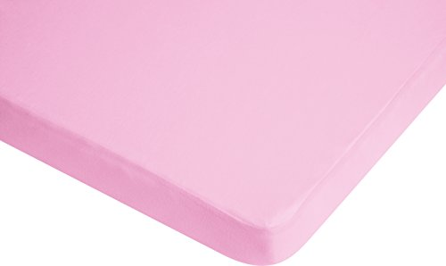 Playshoes Jersey Fitted Sheet Mattress Protector (60 x 120 cm, Rose) de BabyCentre
