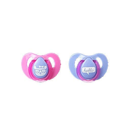 Tommee Tippee Essential Basics Decorated Cherry Soothers - Blue TWO Pack de BabyCentre