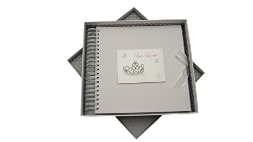 white cotton cards Bat Mitzvah Card and Memory Book Jewish Gift (Girls) de BabyCentre