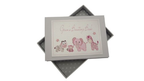 White Cotton Cards Gran's Boasting Book Tiny Photo Album Toys Range (Pink) de Babyland