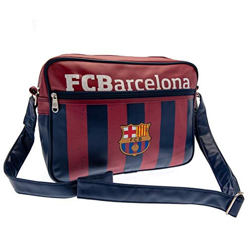 Barcelona Football Club Official Striped Messenger Shoulder Bag Badge Crest de F.C. Barcelona