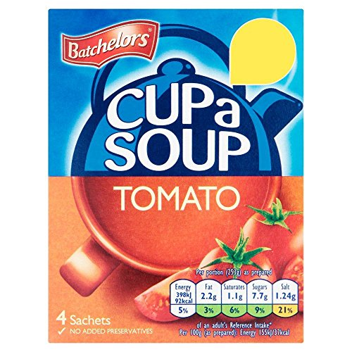 Batchelors - Soupe en sachet Cup A Soup - tomate - lot de 2 boîtes de 93 g de Batchelors
