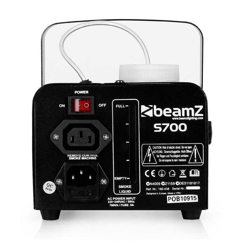 [RECONDITIONNÉ] - Beamz S700 Machine à brouillard 75m³/minute 700W de Beamz