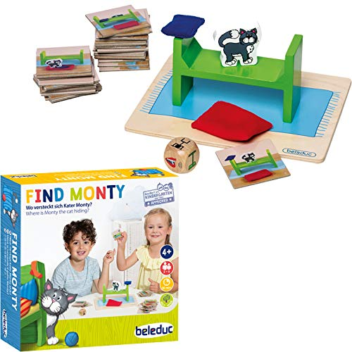 Beleduc 22411 Find Monty Chat de Jeu pour Enfants, Multicolore de Beleduc Arts & Crafts