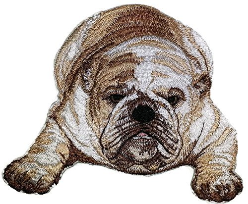 Amazing Custom Dog Portraits [English Bulldog ] Embroidery Iron On/Sew patch [5.16 x 4.54][Made in USA] by BeyondVision de BeyondVision