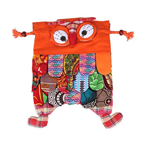 Bigood Sac à Dos Scolaires Ecole Primaire Cartable Nationale Hibou Animal Orange de Bigood
