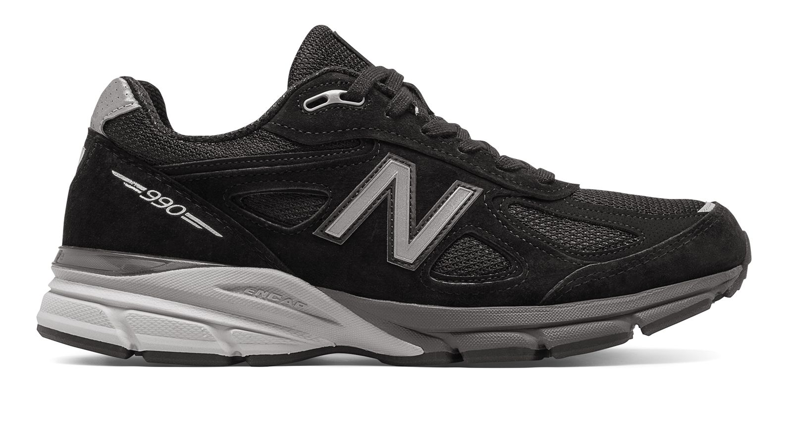 990v4 Made in US de Black with Silver
