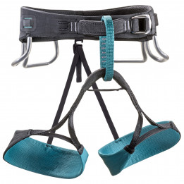 Black Diamond - Women`s Zone Harness - Baudrier d`escalade taille L, noir/gris/turquoise de Black Diamond