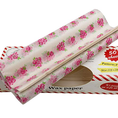 50 PCS Baking Parchment Oil-Proof Paper Wax Paper Sucrerie Wrapper 25 X 21,8 CM de Black Temptation