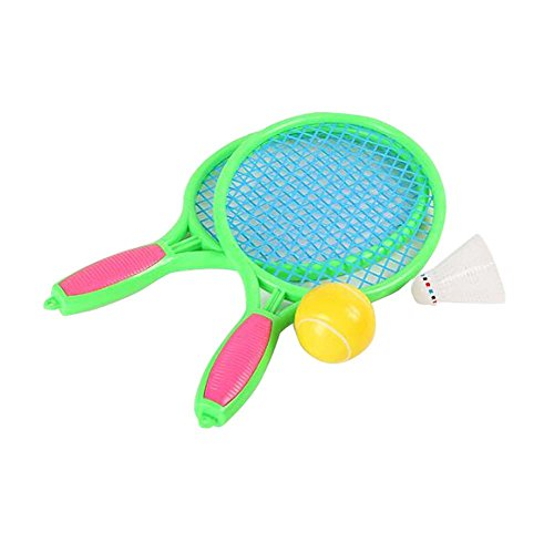 Raquette de tennis Jeux pour enfants Badminton Raquette Fitness Toy-Green de Black Temptation