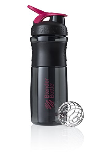 BlenderBottle Sportmixer Tritan- Protéine Shaker / Bouteille d'eau / Shaker Diététique Black/Fashion Pink (1 x 590 ml) de Blender Bottle