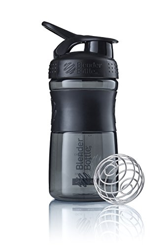 BlenderBottle Sportmixer Tritan- Protéine Shaker / Bouteille d'eau / Shaker Diététique Fashion Black (1 x 590 ml) de Blender Bottle