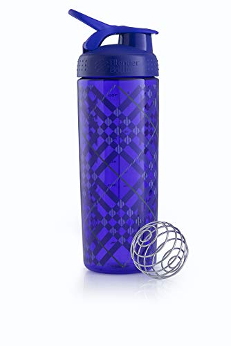 Blender Bottle Signature Sleek - Protéine Shaker / Bouteilled'eau  820ml Violet Tratan Plaid de Blender Bottle