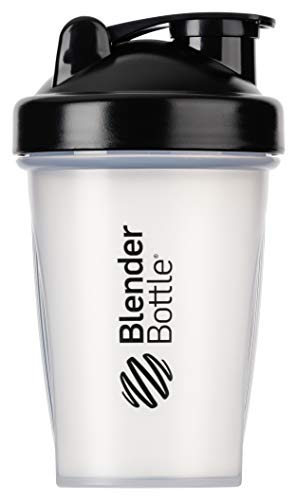 BlenderBottle Classic  Shaker | Shaker Protéine | Bouteille d'eau |Blenderball | 590ml - noir / transparent de Blender Bottle