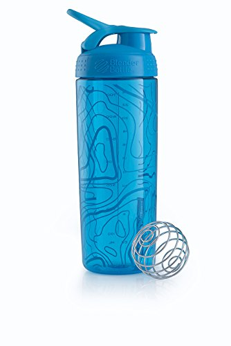 Blender Bottle Signature Sleek - Protéine Shaker / Bouteilled'eau  820ml Aqua Topt Flow de Blender Bottle