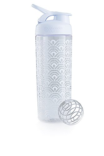 Blender Bottle Signature Sleek - Protéine Shaker / Bouteilled'eau  820ml Blanc Clamshell de Blender Bottle
