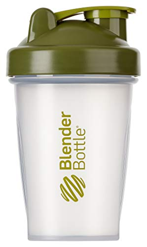 BlenderBottle Classic  Shaker | Shaker Protéine | Bouteille d'eau |Blenderball | 590ml - moss  vert / transparent de Blender Bottle