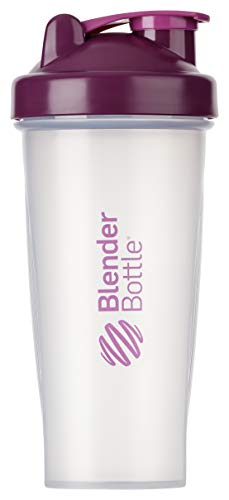 BlenderBottle Classic  Shaker | Shaker Protéine | Bouteille d'eau |Blenderball | 820ml - plum  / tranparent de Blender Bottle