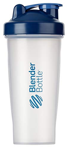 BlenderBottle Classic  Shaker | Shaker Protéine | Bouteille d'eau |Blenderball | 820ml - Navy / tranparent de Blender Bottle