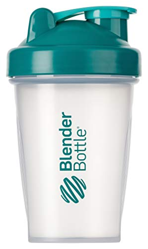 BlenderBottle Classic  Shaker | Shaker Protéine | Bouteille d'eau |Blenderball | 590ml - teal / transparent de Blender Bottle