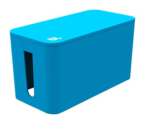 Bluelounge CableBox Mini 4AC outlet(s) Bleu protection surtension - Protections surtensions (4 sortie(s) CA, Bleu, 240 mm, 120 mm, 130 mm, Plastique) de BlueLounge